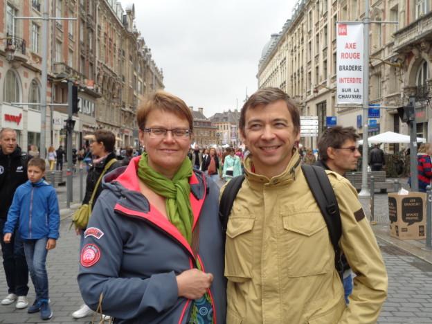 Christophe und ich in Lille - unterwegs mit geringen Italienischkenntnissen