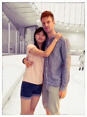 Christian mit seiner chinesischen Freundin