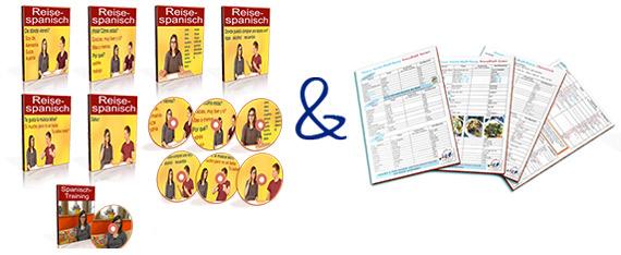 Videopaket und Sprachblätter für deine Reise